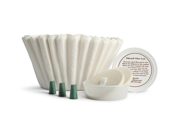 Filtron Filter Kit 36 paper liners, 2 filter pads and 3 rubber stoppers